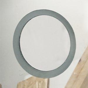 Vgradno kozmetično ogledalo - peskan rob