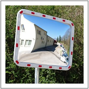 Robust acrylic traffic mirrors
